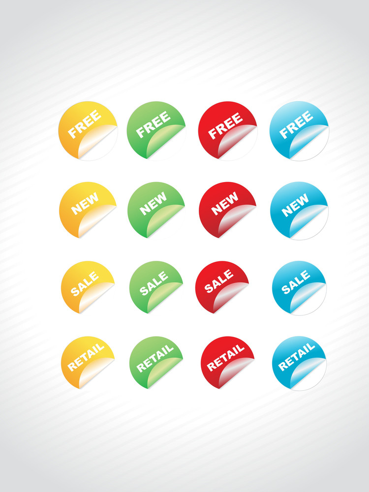 Discount Sales Shiny Round Colorful Stickers