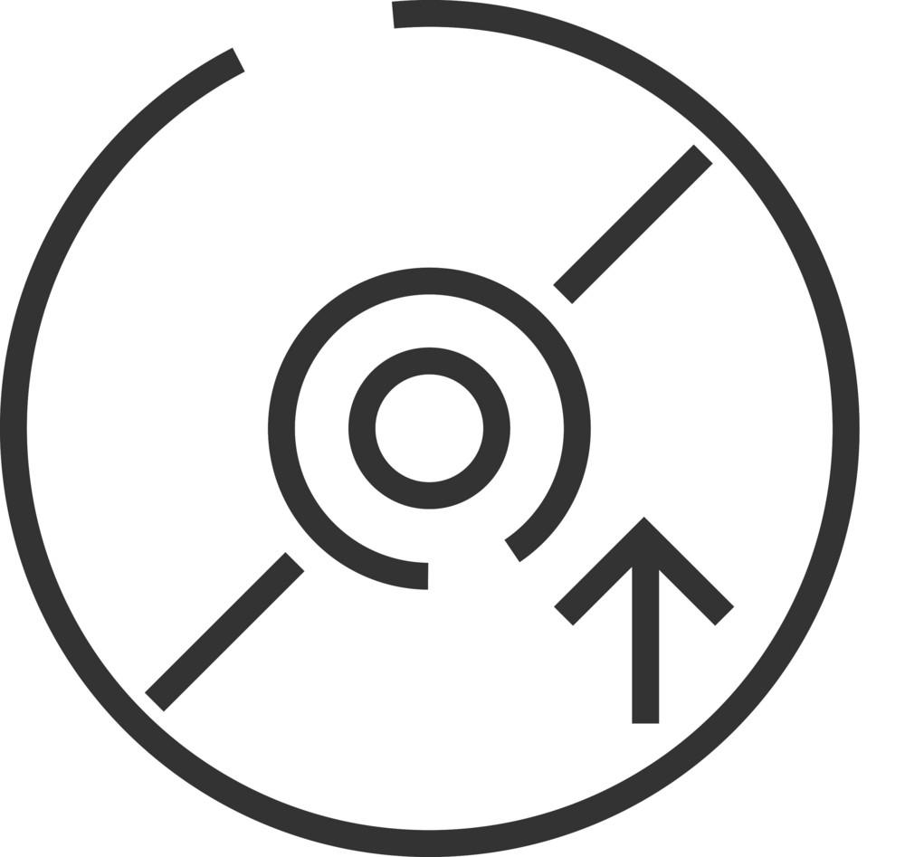 Disk 10 Minimal Icon
