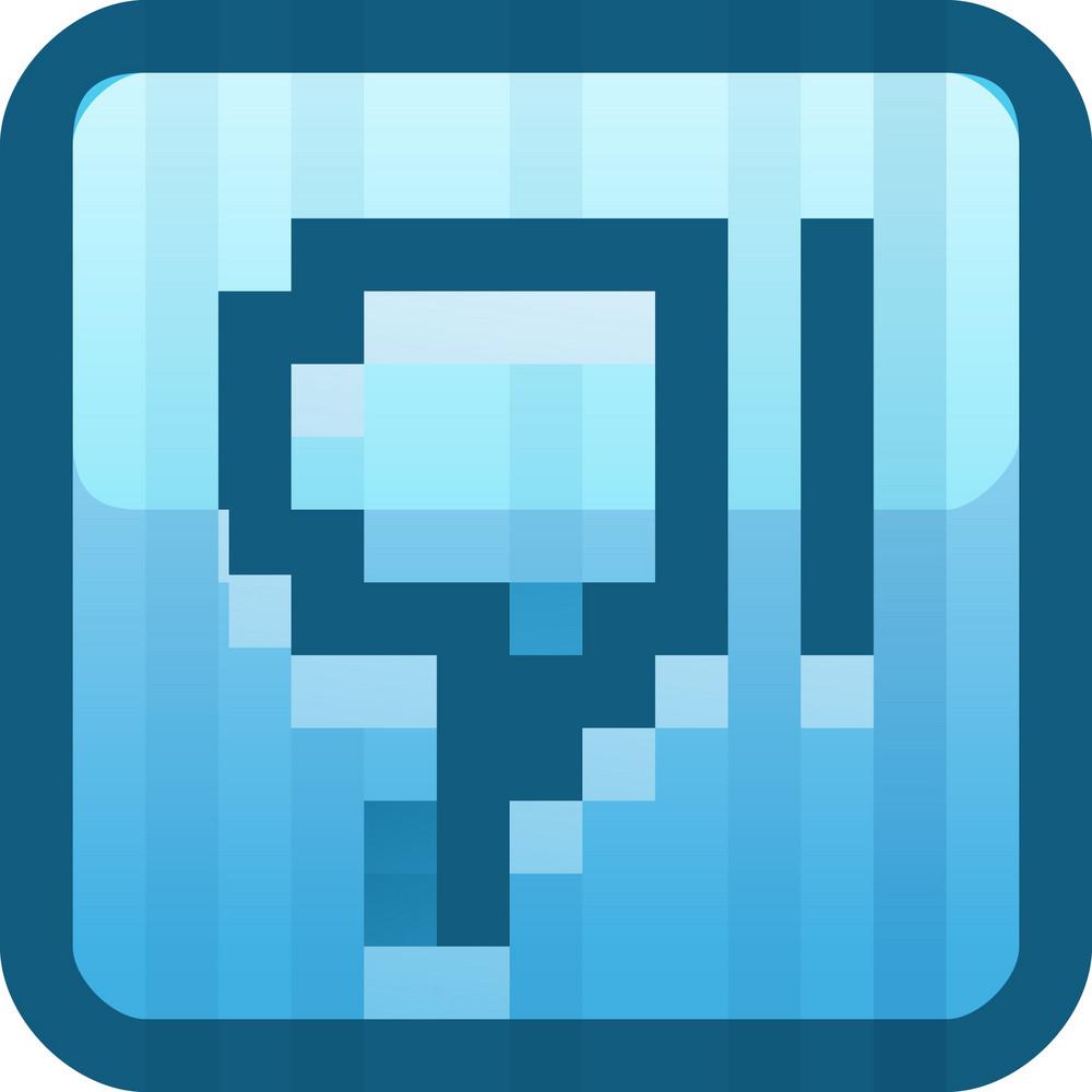Dislike Blue Tiny App Icon