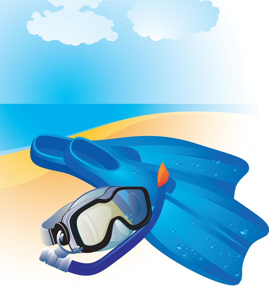 Diving Equipment. Vector.