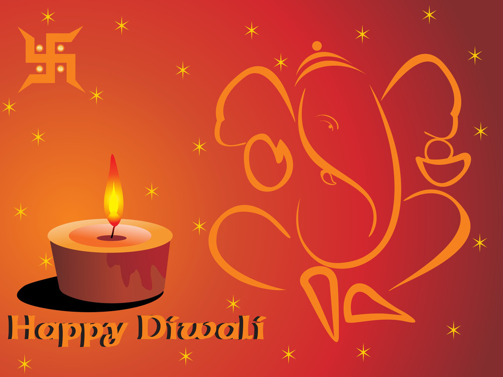 Diwali Background With Ganpati