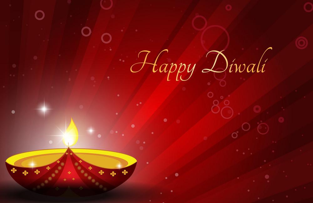 Diwali Card Vector Illustration