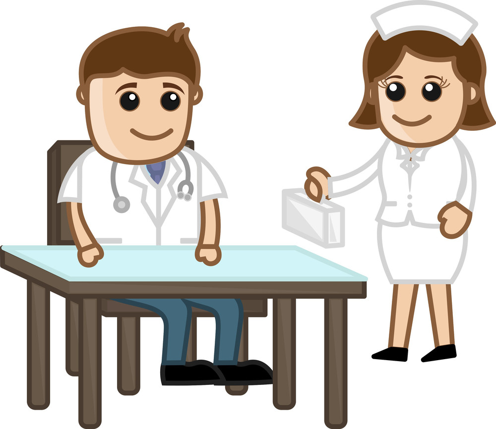 Doctor And Nurse - Medical Cartoon Characters