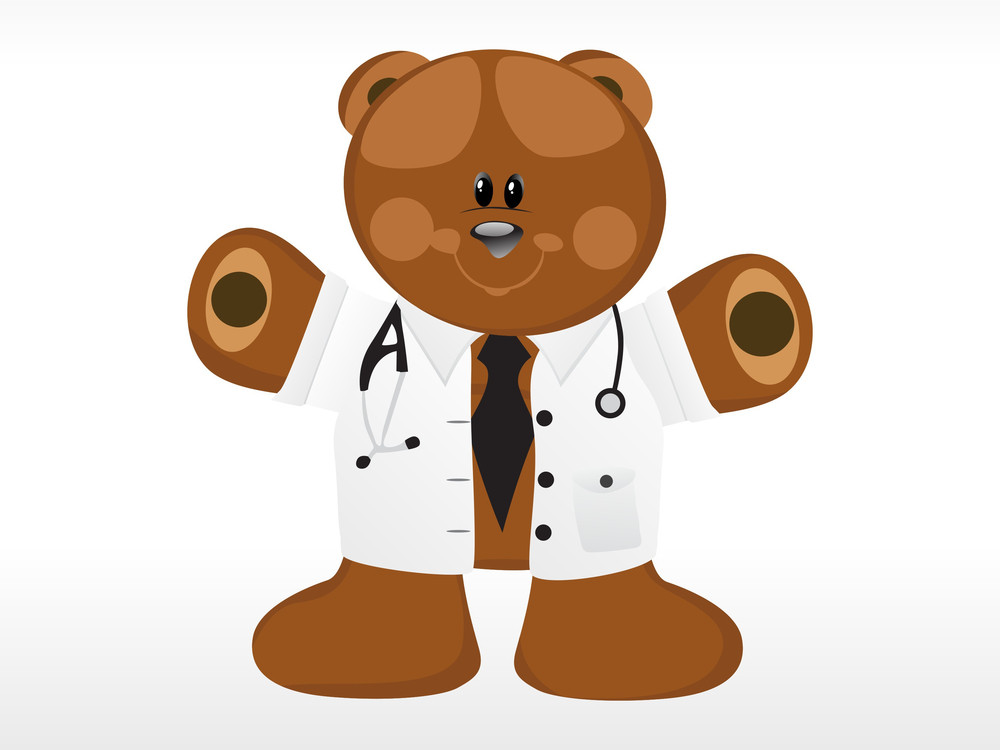 Doctor Bear With Background