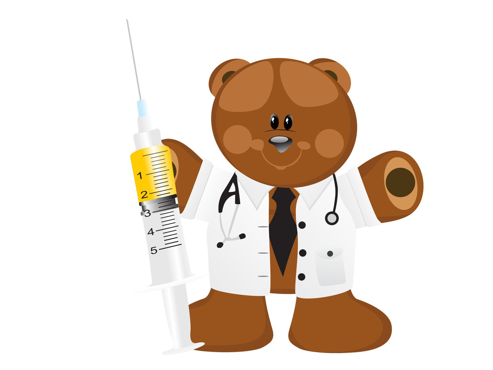 Doctor Bear With Syringe