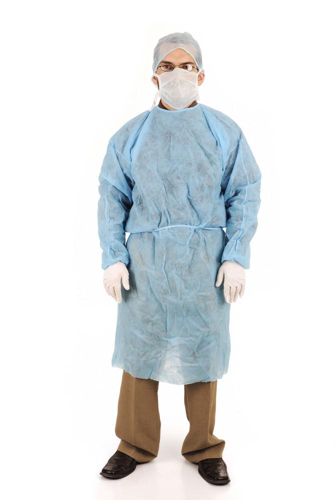 doctor in scrubs