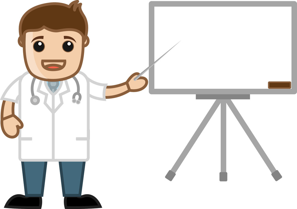 Doctor Presentation - Office Cartoon Characters