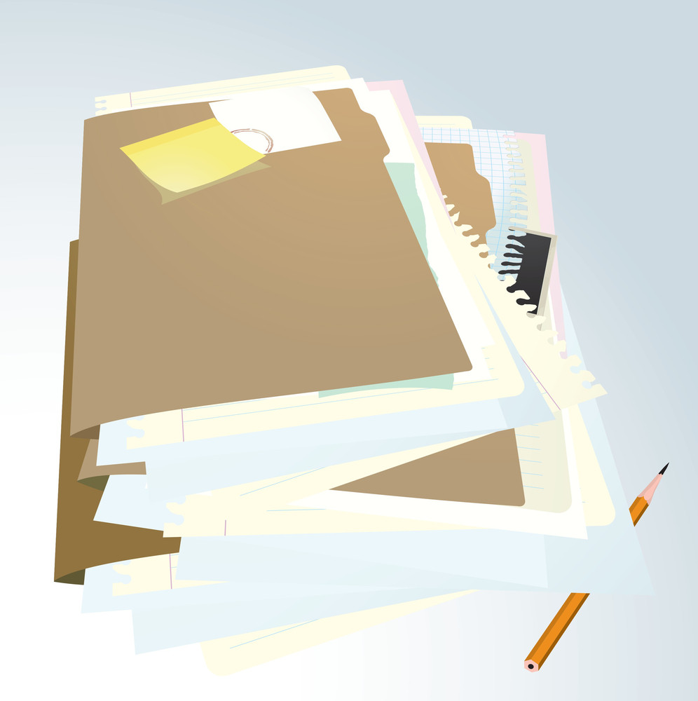 Documents Folder. Vector Illustration.