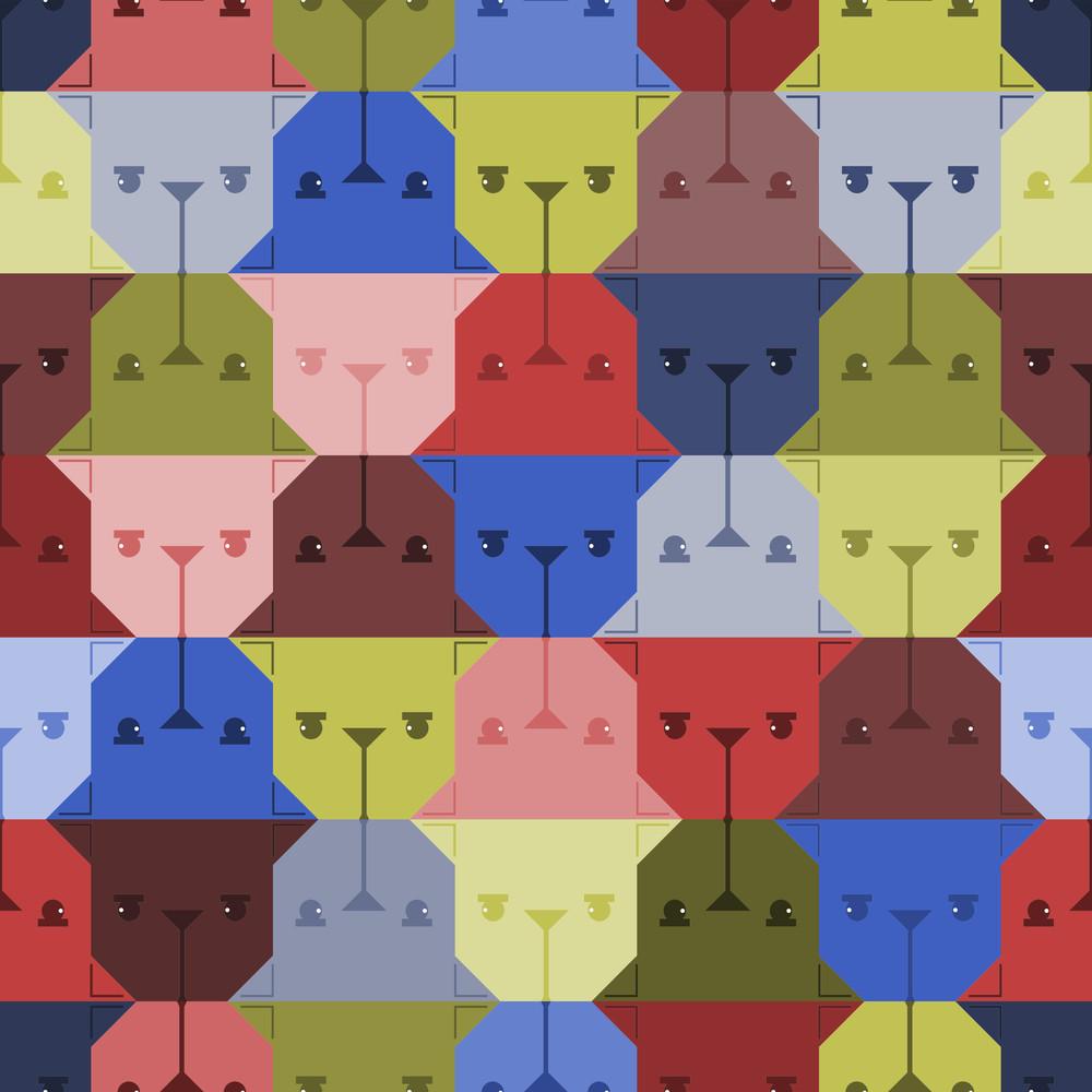 Dog Head Seamless Pattern.