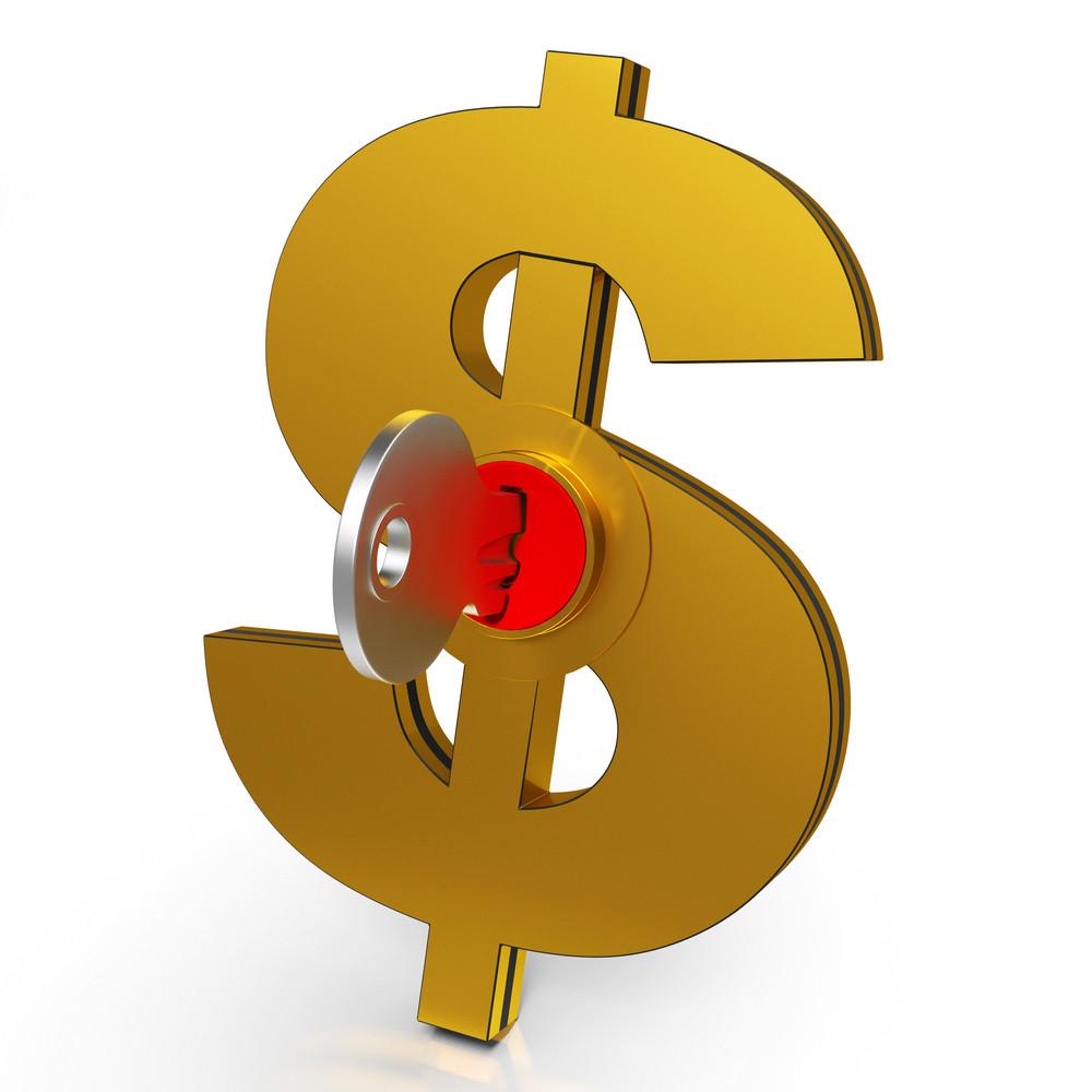 Dollar Key Shows Savings And Finance
