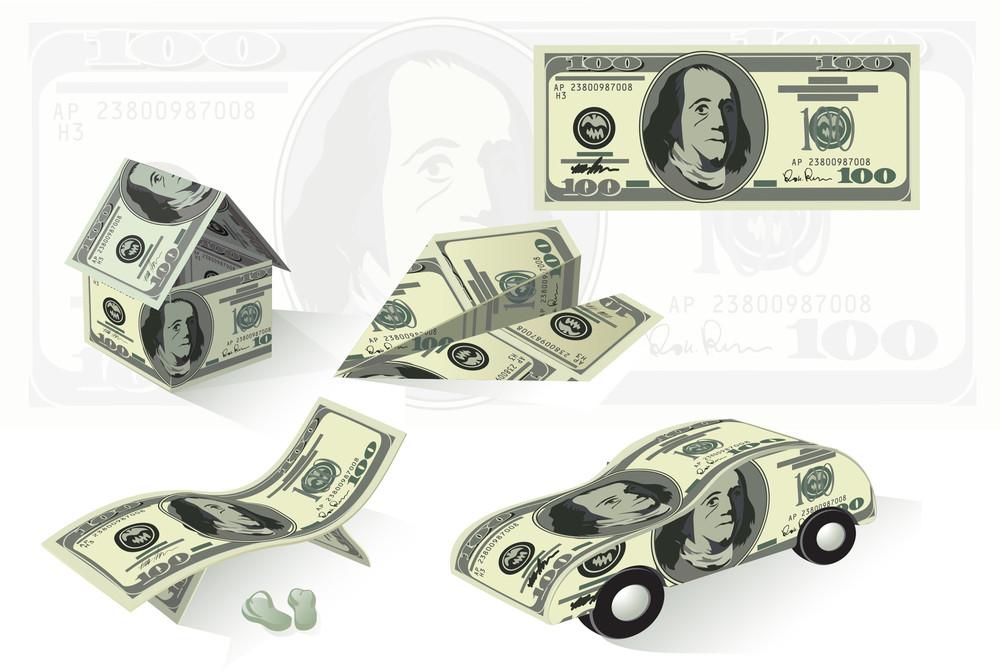 Dollar Money Abstract. Vector.