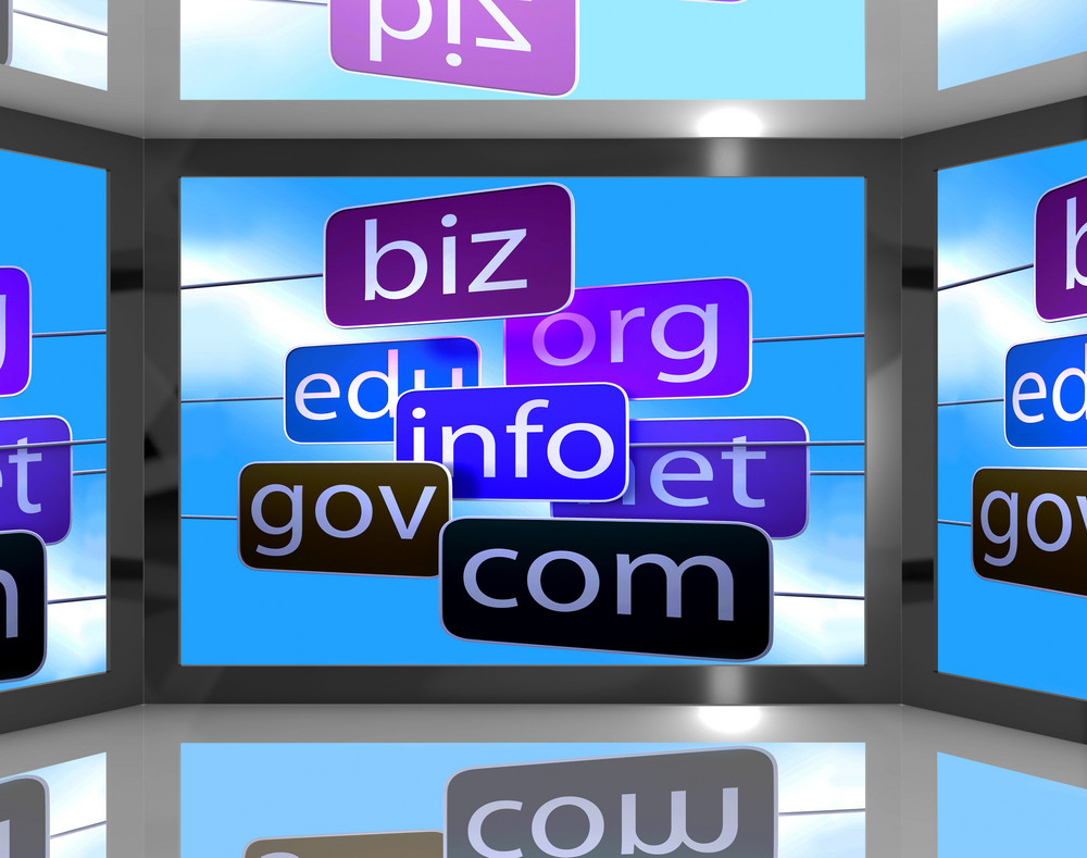 Domains On Screen Shows Different Types Of Websites