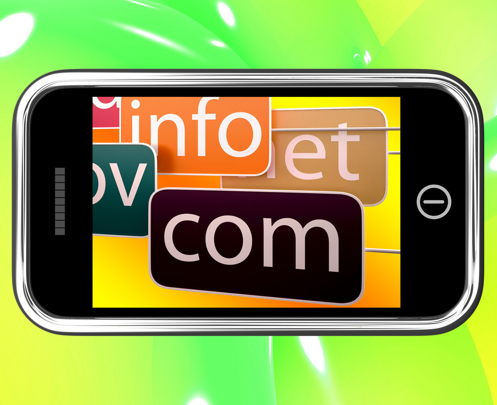 Domains On Smartphone Shows Government Sites