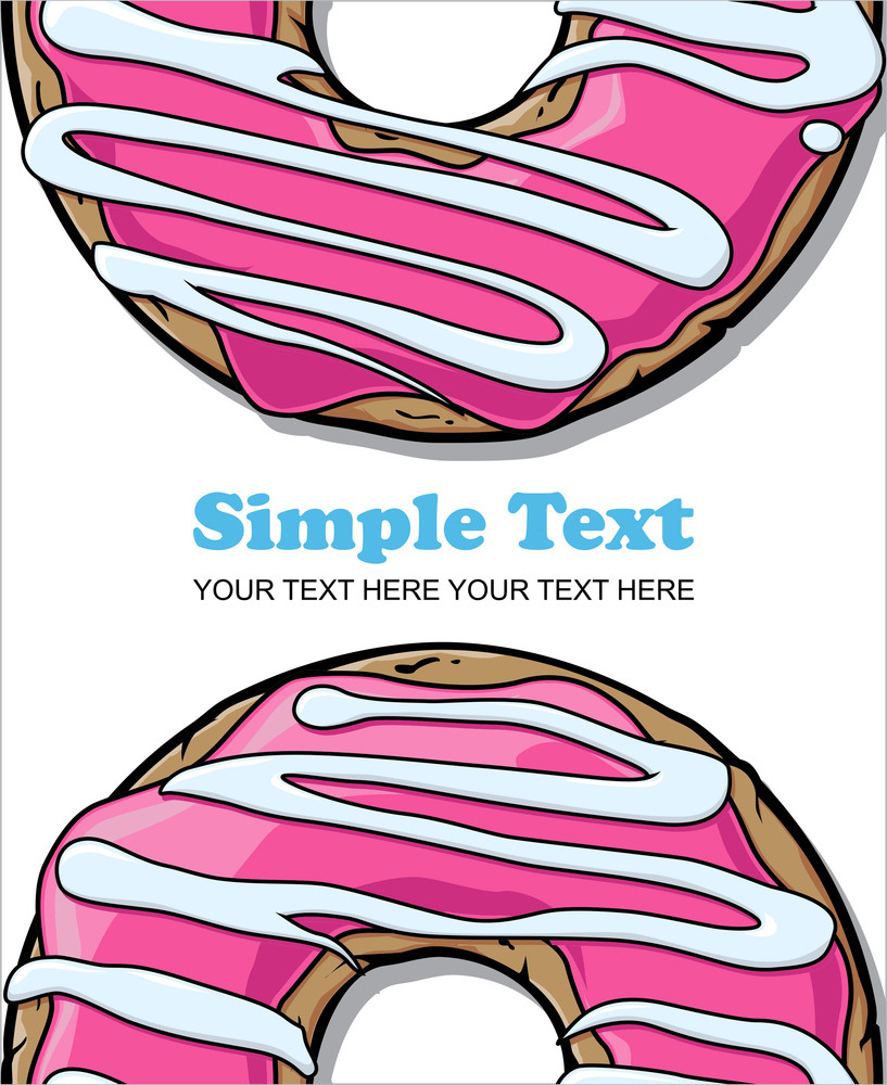 Donut Vector Illustration.