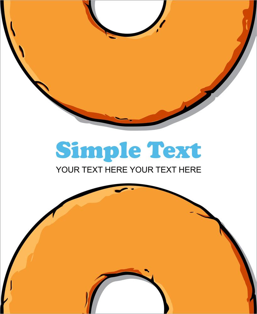 Donut Vector Illustration.