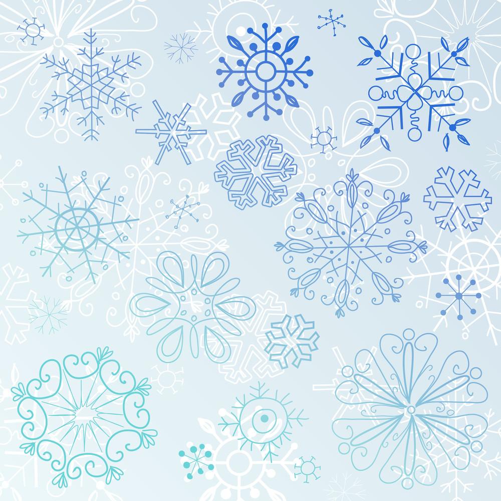 Doodle Snowflake Elements