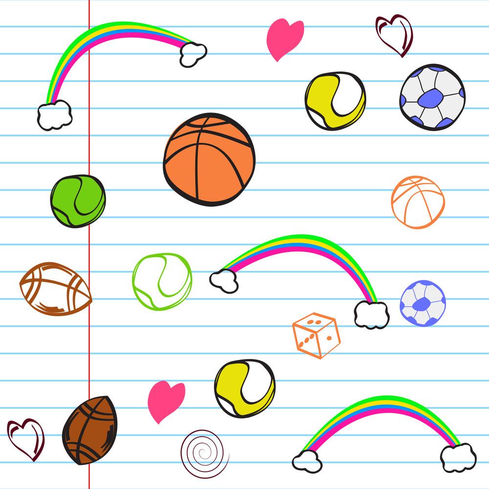 Doodle Sports Background.