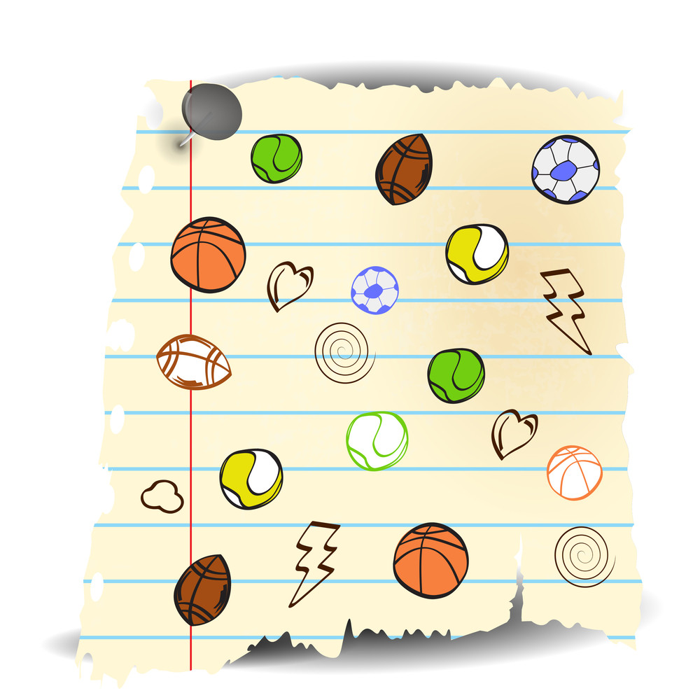 Doodle Sports Background.