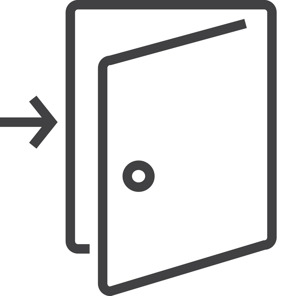 Door 4 Minimal Icon