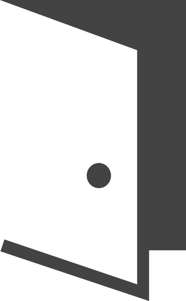 Door Open Glyph Icon