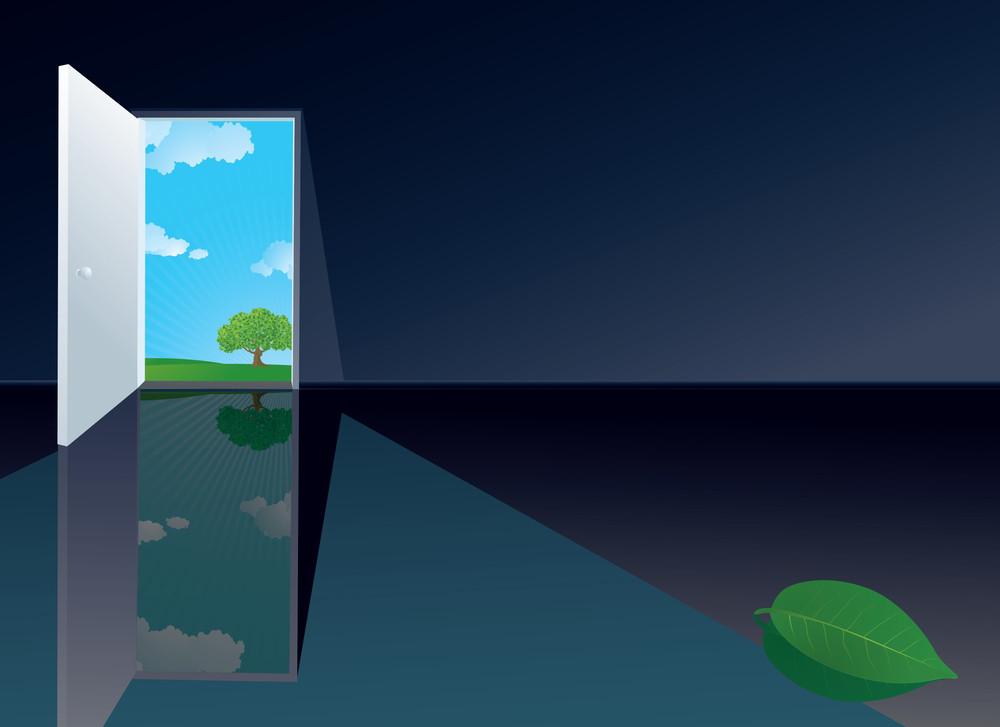 Door. Vector Concept.