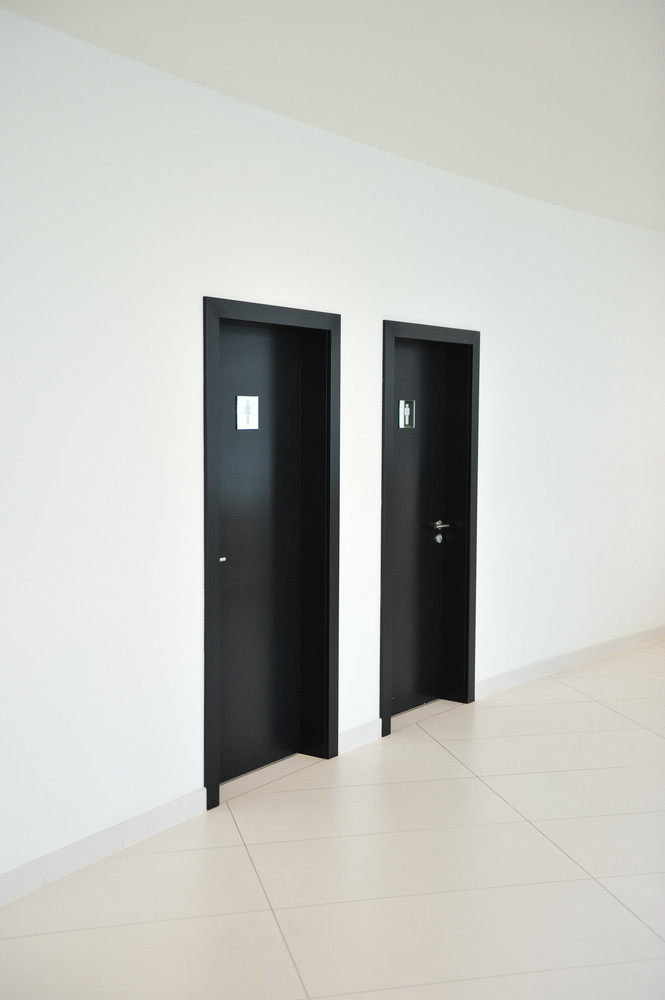 Doors walls and floors, bathroom for male and female