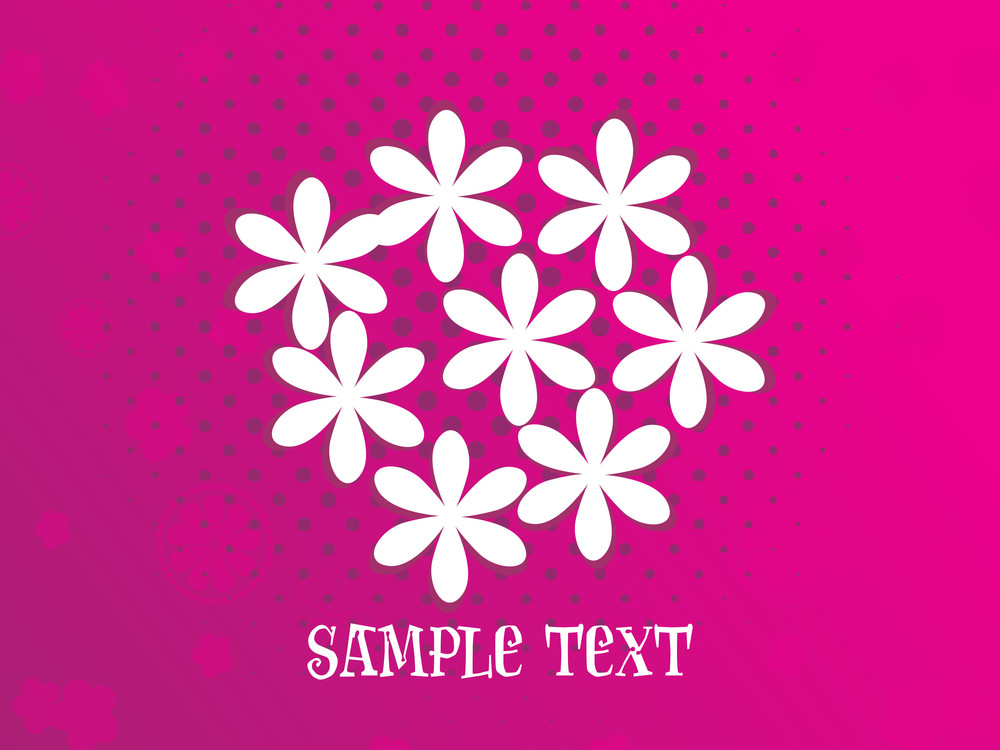 Dotted Background With Blossoms