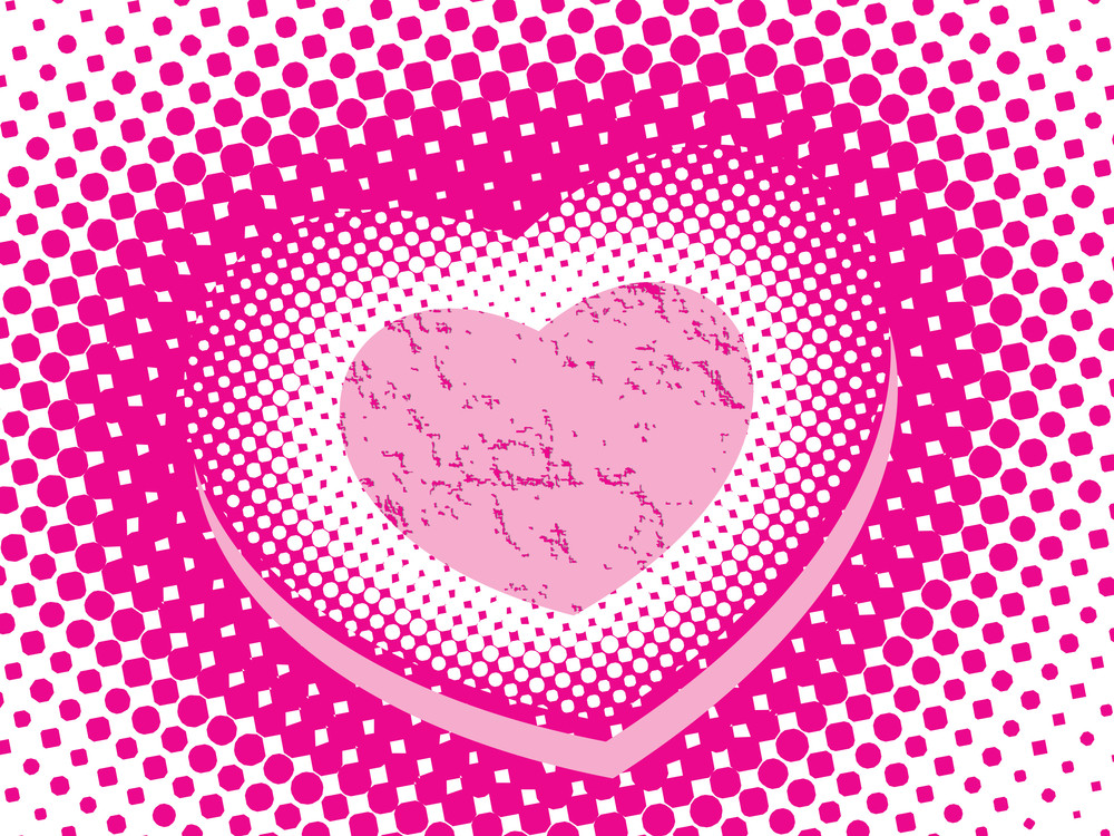 Dotted Background With Heart