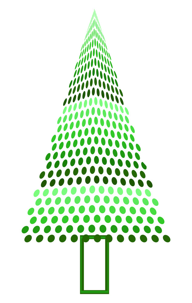 Dotted Effect Christmas Tree