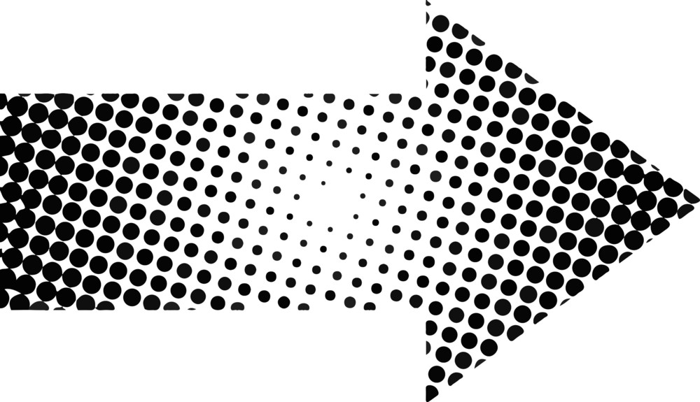 Dotted Pattern Arrow Design