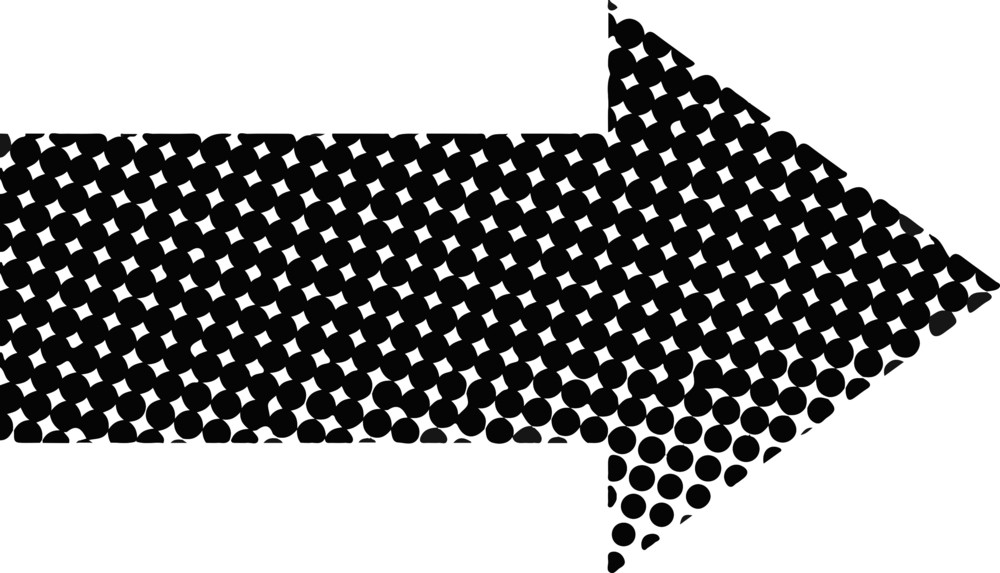 Dotted Pattern Arrow