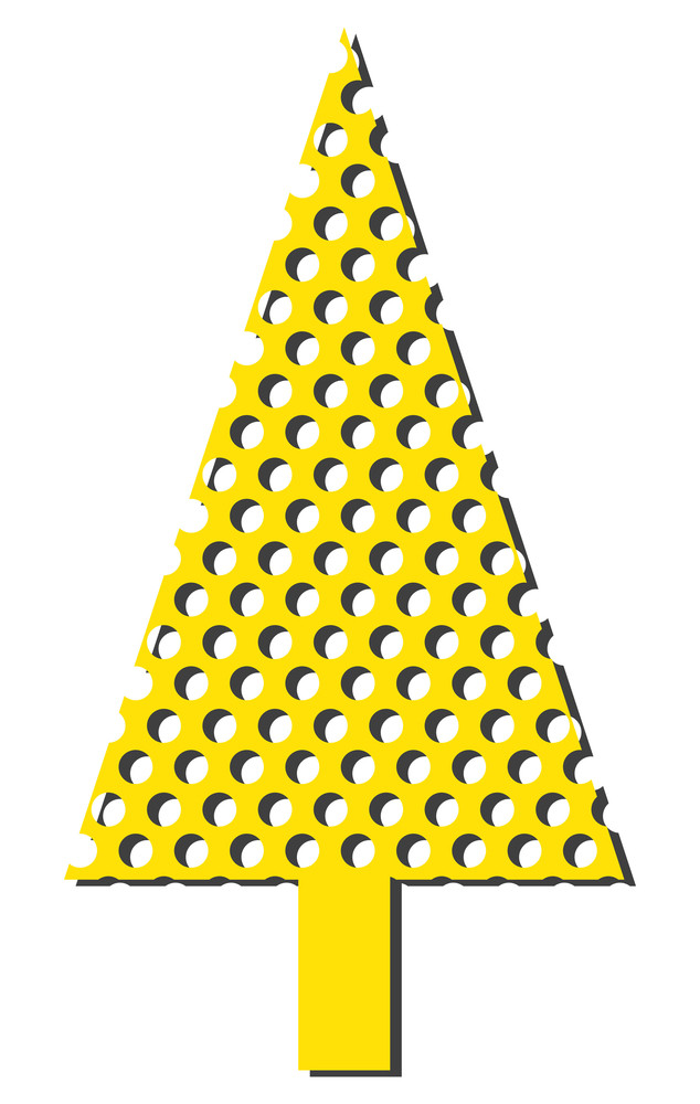 Dotted Pattern Christmas Tree
