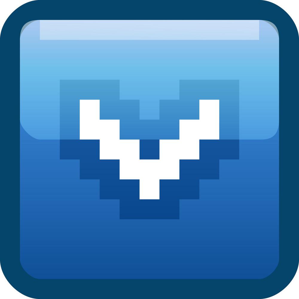 Down Arrow Blue Tiny App Icon