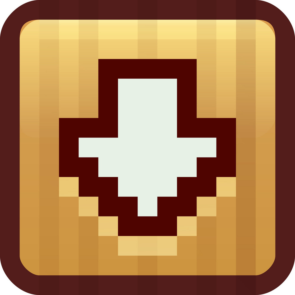 Down Arrow Brown Tiny App Icon