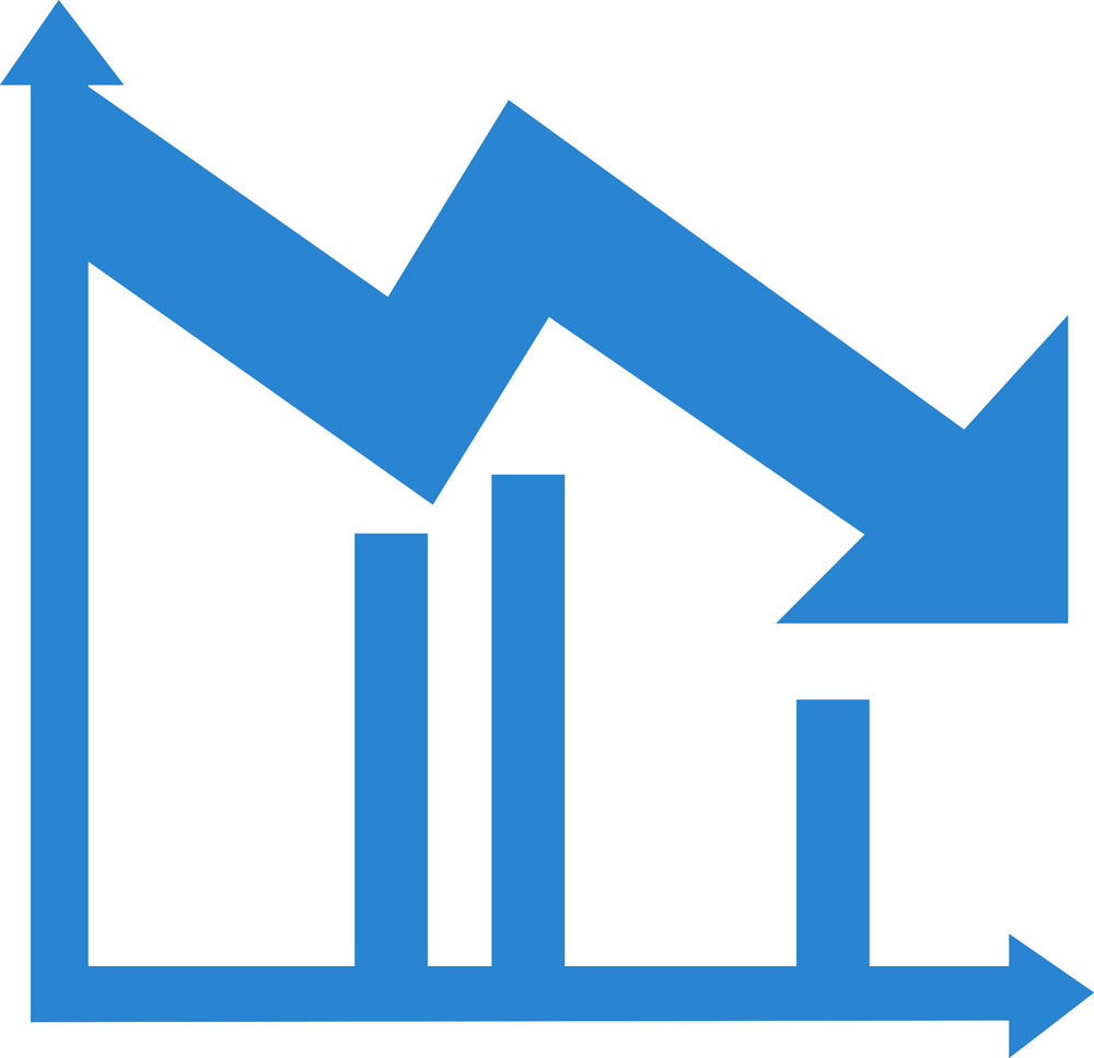 Downward Trend Chart Simplicity Icon
