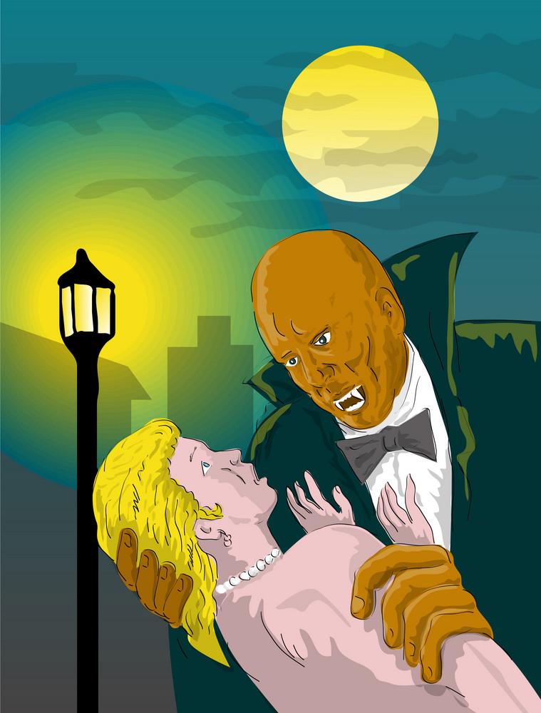 Dracula Kissing Girl