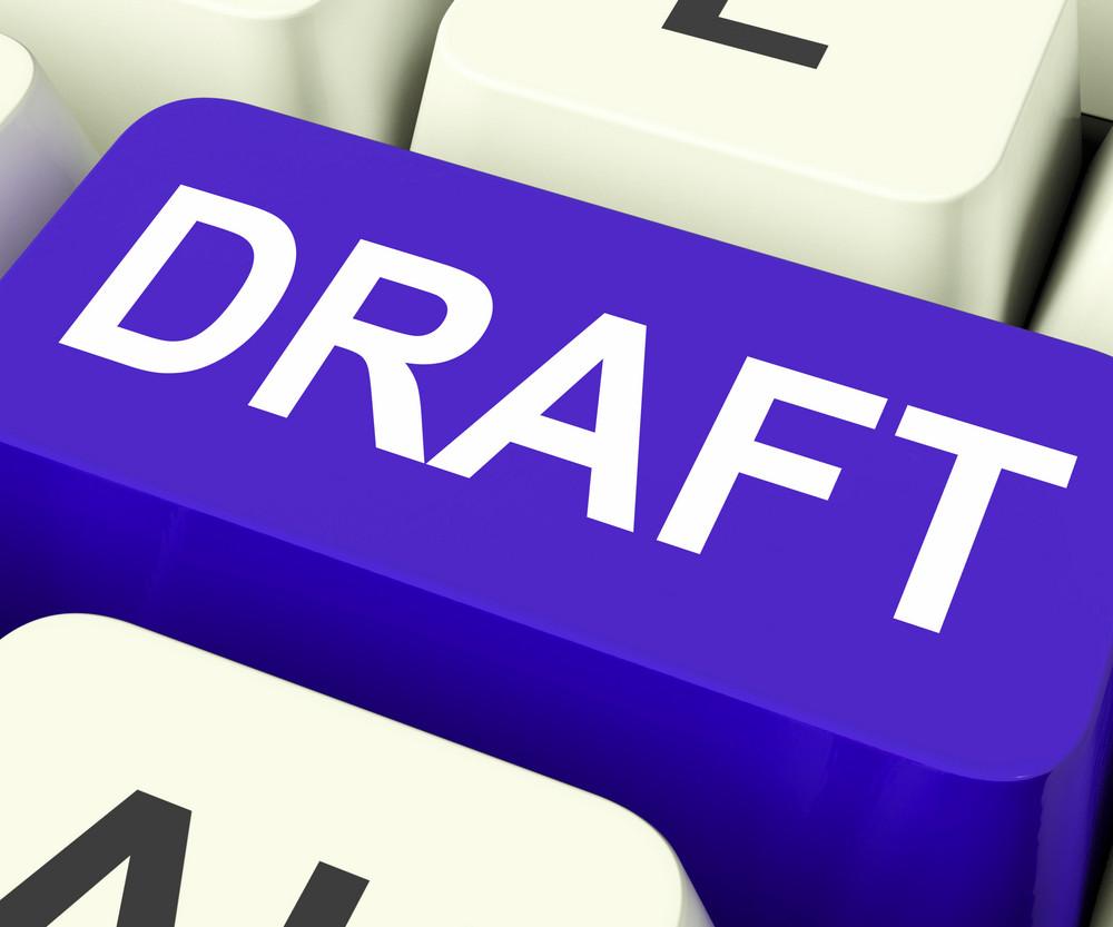 Draft Key Shows Outline Document Or Letter