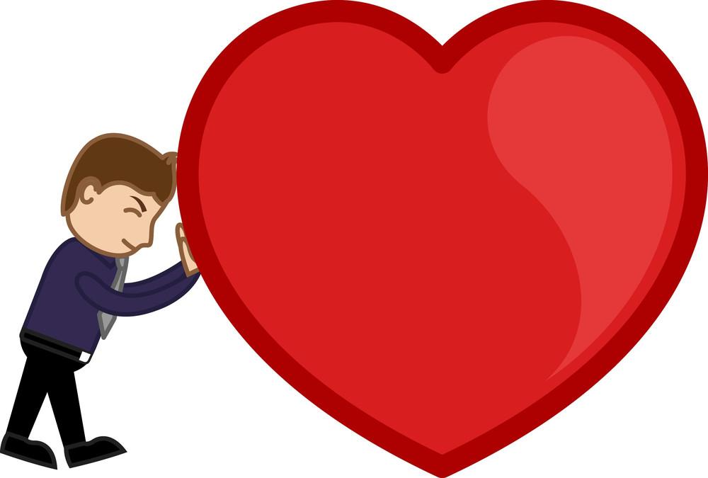 Dragging A Heavy Heart Vector Illustration