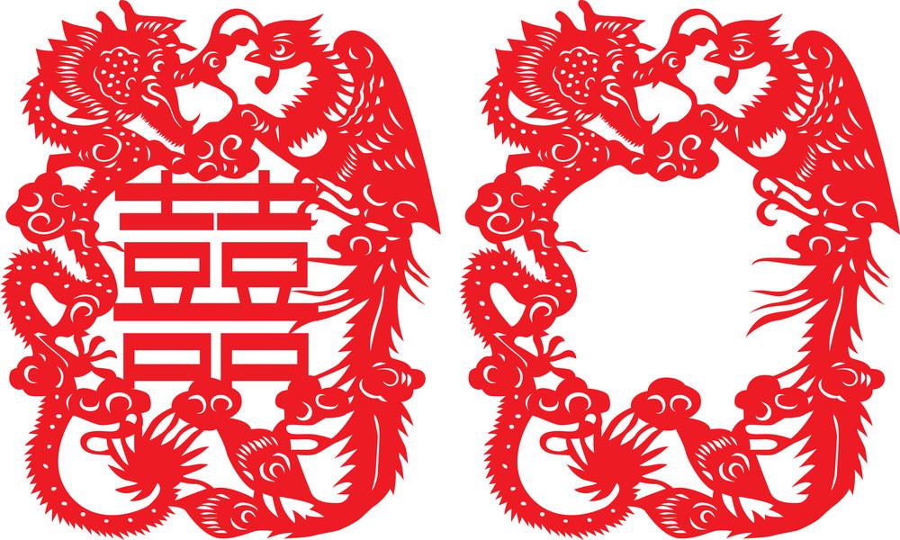 Dragon & Phoenix Paper Cutting