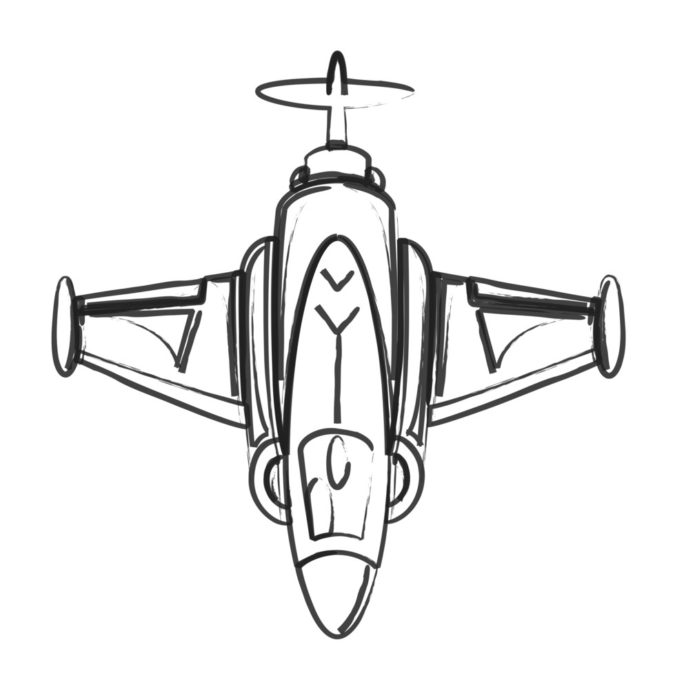 Drawing Art Of Fighter Plane
