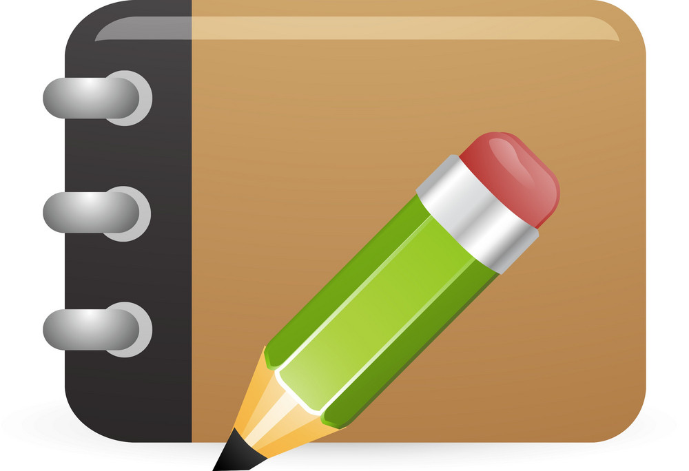 Drawing Notebook With Pencil Lite Art Icon