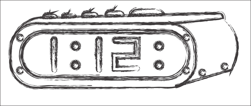 Drawing Of Alarm Clock