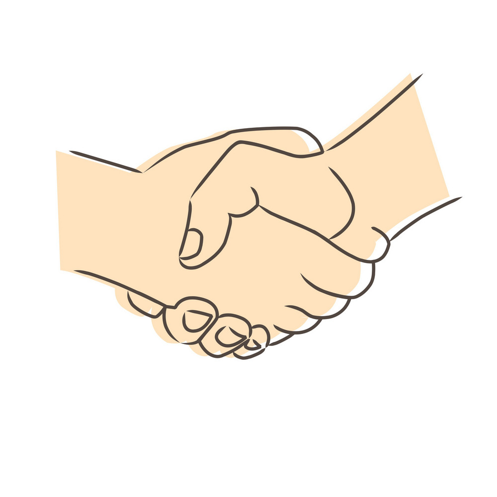 Drawing Of Handshake