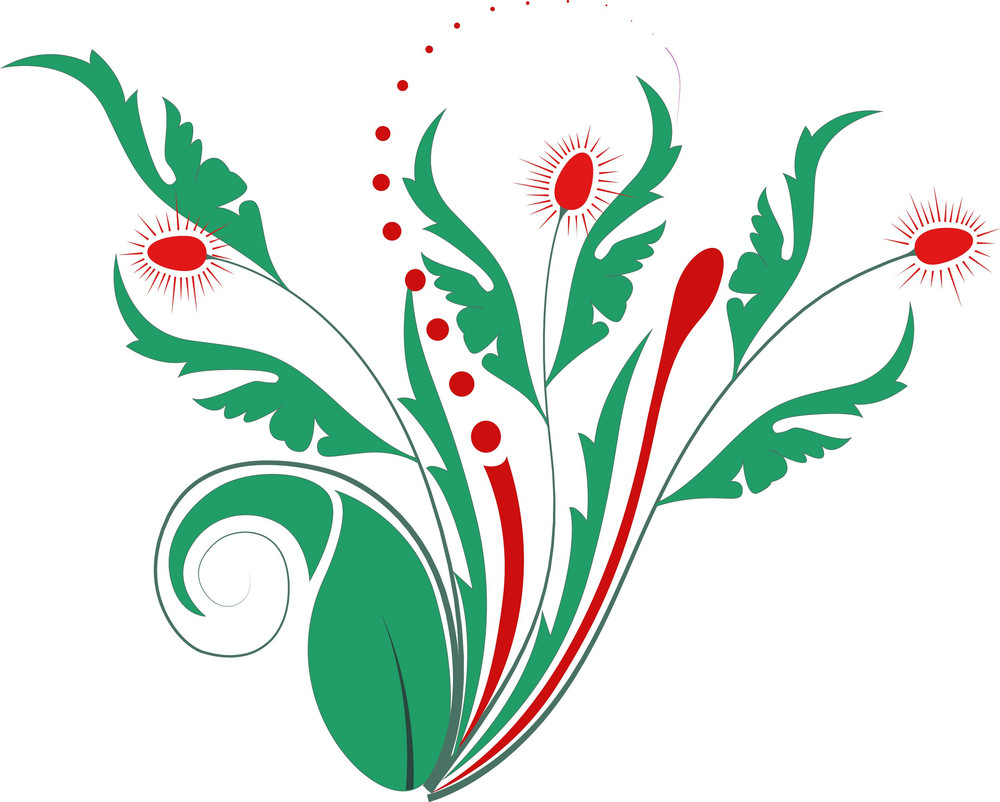 Drawing Of Vintage Florals