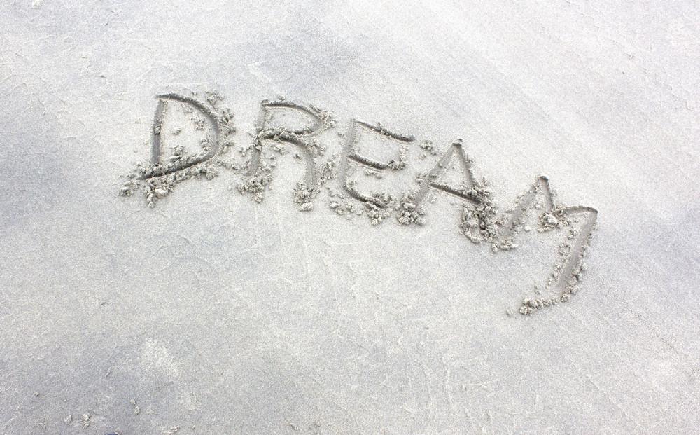 Dream Text On Sand