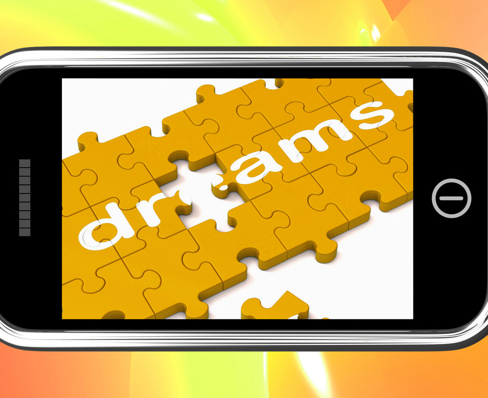 Dreams On Smartphone Showing Wishes