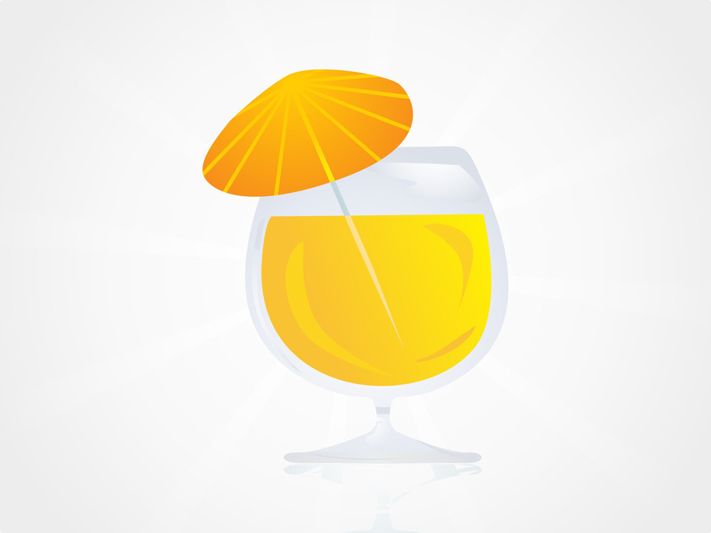 Dressed Cocktail With Umbrella