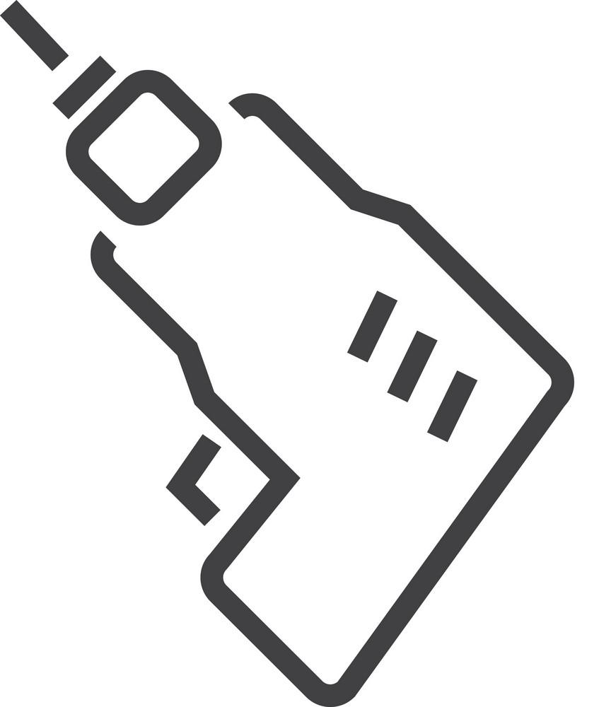 Drill Minimal Icon