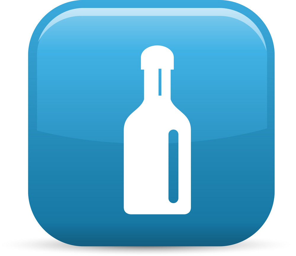 Drink Bottle Elements Glossy Icon