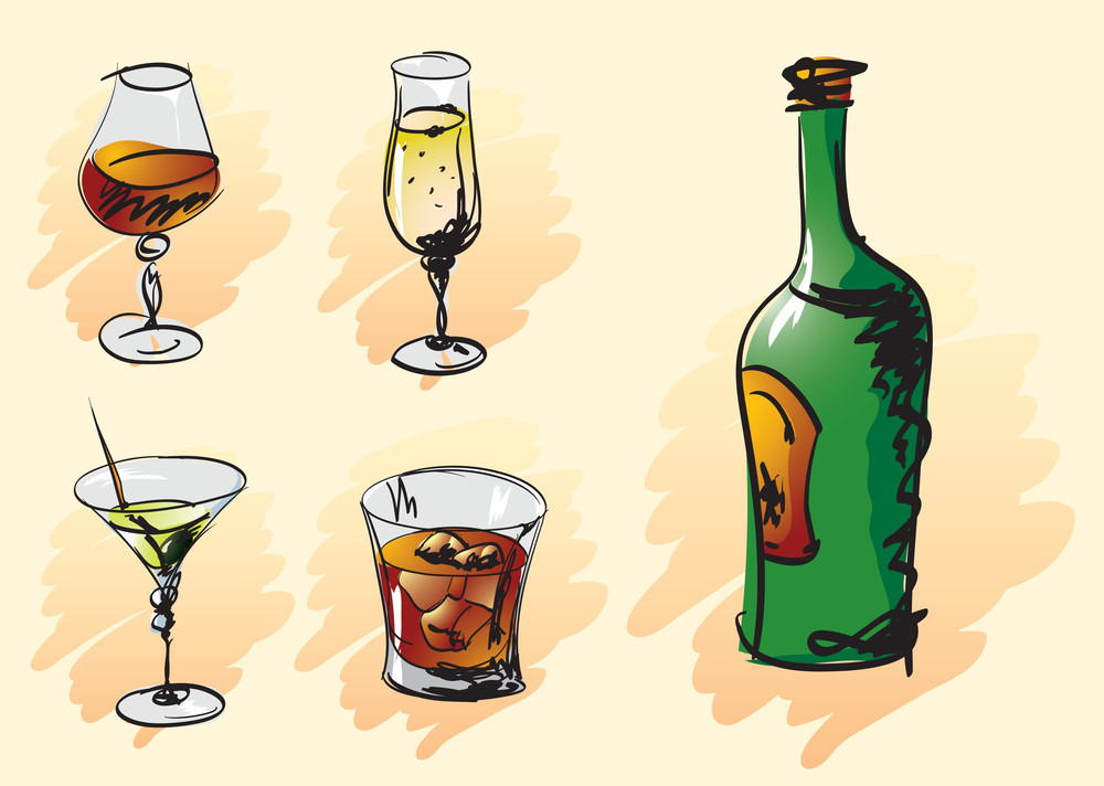 Drinks. Vector. Part One.
